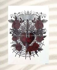 "sword rose heart extra large size 8.25""arm tattoo temporary Bohemian Tattoos"