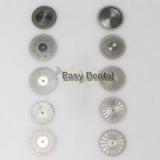10pcs Diamond Polishing Wheel Saw Disc Dental Plaster Cutter Double Sided Tool