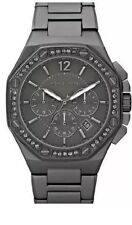 MICHAEL KORS KNOX GUNMETAL PLATED STEEL CHRONOGRAPH CRYSTALS WATCH MK5506