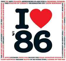 30th Birthday Gift - I Love 1986 Compilation CD Greetings Card Anniversary Gifts
