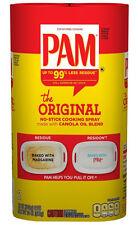 PAM No-Stick Cooking Spray 100% Natural Original w/ Canola Oil (2 x 12 oz. cans)