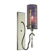 Woodbridge Lighting Haley 1-Light Wall Sconce, Mosaic Glass - 14241STN-M10IRI