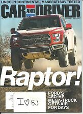 Car and Driver February 2017 Ford Raptor Free & Fast SnH Best Deal Ebay L@@K !!