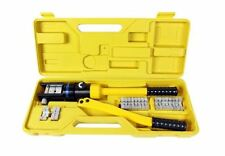 Hydraulic Cable Crimper Lug Terminal Wire Battery Crimping Tool Dies 16 Ton NEW