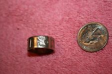 1900's SD Ireland Sterling Old Stamps Celtic Pattern Ring size 8.5