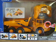 G-SCALE 1/32 SCALE R/C VOLVO A40D DIRT HAULER STEERS, FWD, REV, DUMPS LOADS, NEW