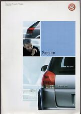 Vauxhall Signum 2002-03 UK Market Preview Foldout Sales Brochure