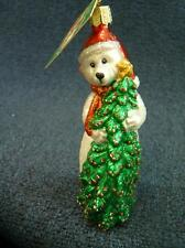 Merck Old World Christmas OWC Merry Beary Bear Ornament NEW with tag (o2050)