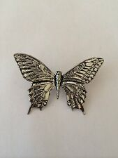 C6 Swallowtail Butterfly Fine English Pewter Bird Pin Badge