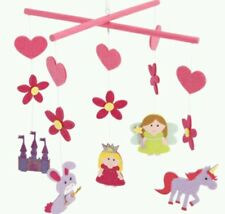 Chicas Cuentos De Hadas De Fieltro Princesa mobile.ideal Dormitorio Sala de Juegos decoration.pink