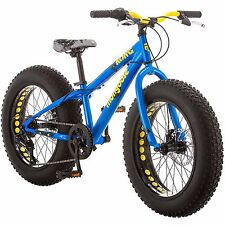 "20 "" Mongoose Kong 7 Speed Boys All Terrain Road Bike Fat Tire Mountain Bicycle"