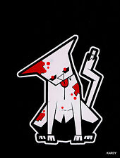 *BLOODY* Zombie Pet Kitty Cat Family Car Decal Sticker   +  **FREE DECAL**
