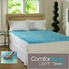 ComforPedic Cool Gel Memory Foam Bed Mattress Topper Cover Pad Beautyrest Queen