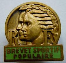 Insigne boutonnière BREVET SPORTIF POPULAIRE numéroté ORIGINAL France 1
