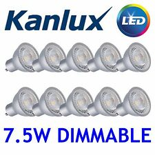 10x Kanlux PRODIM LED GU10 Dimmable Spot Light Bulb Lamp 7.5W 2700K Warm White