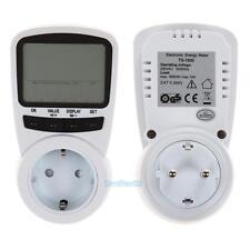 LCD Digital Power Meter Energy Electricity Usage Watt Calculator Monitor EU Plug