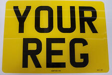 SQUARE REGISTRATION PLATE  4 x 4 NUMBER PLATE 11 x 8  1ST CLASS FREEPOST