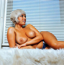 1960s Nude Pinup Tanned plus size blonde majestic breasts  8 x 8 Photograph