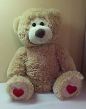 "Golden Brown Teddy Bear Large 18"" stuffed toy animal Valentine's Day Gift NWOT"