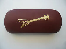 GUITAR FLYING V music new metal glasses case make great gift Christmas Birthday!