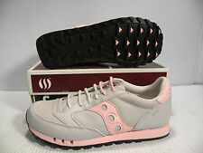 SAUCONY JAZZ NUBUCK LOW SUEDE SNEAKER WOMEN SHOES GREY/PINK 1497-10 SIZE 8.5 NEW