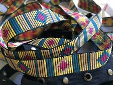 "multi colored  French ribbon trim 5.5 yds 3/4"" wide quality"