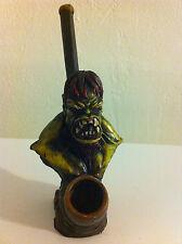 HANDMADE TOBACCO PIPE Zombie Hulk Style.