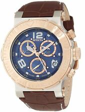 INVICTA OCEAN REEF RESERVE CHRONOGRAPH DATE LEATHER STRAP MEN'S WATCH 10583 NEW