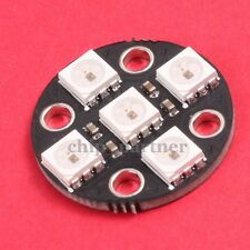WS2812 5Bit SMD 5050 RGB LED Lamp Panel Board 5V Round for Arduino