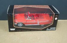 Motormax 73200 1:24 1958 Chevy Impala Convertible Red MIB Diecast