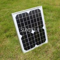10 WATT MONOCRYSTALLINE SOLAR PANEL 10 WATTS 12V PV- WITH DIODE & 3M CABLE