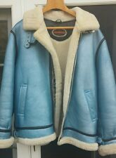 Shearling Men's Fur Jacket with Hood 3XL made in USA