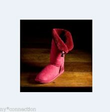 Australian Shearling Boot Buckle 8 Ruby Red