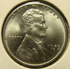 1943-S 1C STEEL Lincoln Cent, UNCIRCULATED, STEELIE, WHEAT PENNY, #124