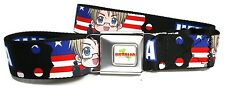 Hetalia Axis Powers Seatbelt Belt America USA American Flag Stars & Stripes New