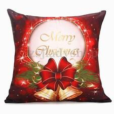 Christmas Custom Zippered 18x18'' Inch Cushion Cover Case Decorative Pillowcase