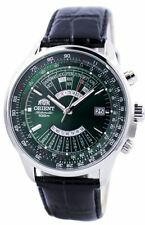 Orient Multi-Year Perpetual Calendar FEU0700CFH Green Dial Black Leather Band M