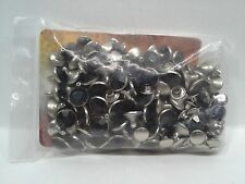 Tandy Leather 1399-14 Synthetic Crystal Rivets Black 10mm 100 Pack F/Ship!