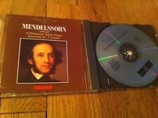 Mendelssohn Bartholdy 1809-1847 CD Midsummer Nights Dream Symphony No 3 Scottish