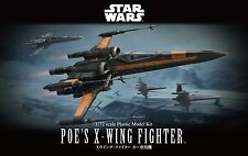 Bandai STAR WARS 1/72 POE'S X-WING FIGHTER w/ BB-8+RO-H2 Pilot from Japan