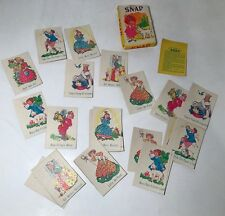Vintage Snap Children's Card Game Nursery Rhymes Art Party Hong Kong Complete
