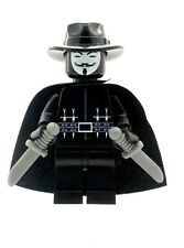Custom Minifigure Anonymous (V for Vendetta) Printed on LEGO Parts