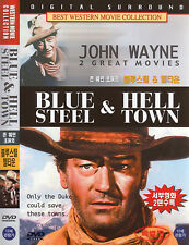 Blue Steel + Hell Town 2 Films on 1 Disc - John Wayne (The Duke) Eleanor Hunt