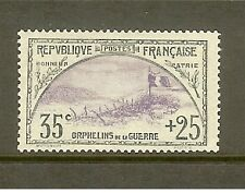 """FRANCE STAMP TIMBRE N° 152 """" ORPHELINS 35c+25c TRANCHEE ET DRAPEAU """" NEUF xx TB"""