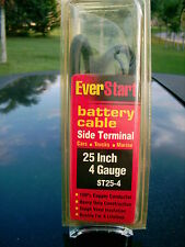 "EVER START BATTERY CABLE SIDE-TERM 25"" 4 GAUGE ST25-4  CAR-TRUCK-MARINE COPPER"