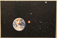 (PRL) 1990 LA TERRA THE PLANET EARTH UNIVERSE SPACE VINTAGE PRINT ART POSTER