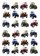 Tractor Farm STAND UP Cupcake Fairy Toppers Edible Rice Paper Decorations edible