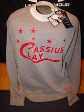 NWT MENS UNDER ARMOUR ROOTS OF FIGHT CASSIUS CLAY MUHAMMAD ALI SWEATSHIRT XL !!!
