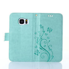 Luxury Flip Leather Card Wallet Beauty Butterfly Stand Case Cover For Smartphone
