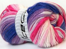 4 PELOTES DE LAINE ICE YARNS DANCING BABY VIOLET ROSE DEGRADES BLANC
